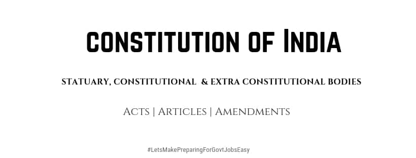 constitutional bodies in India