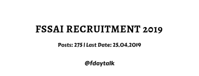 fssai recruitment 2019 apply online