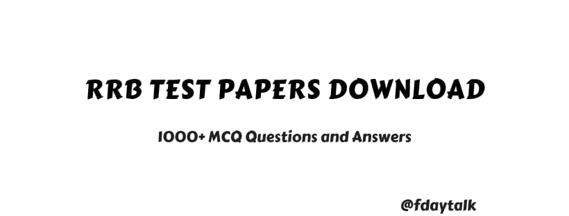 rrb test papers download