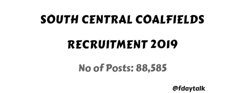 south central coalfields Recruitment 2019