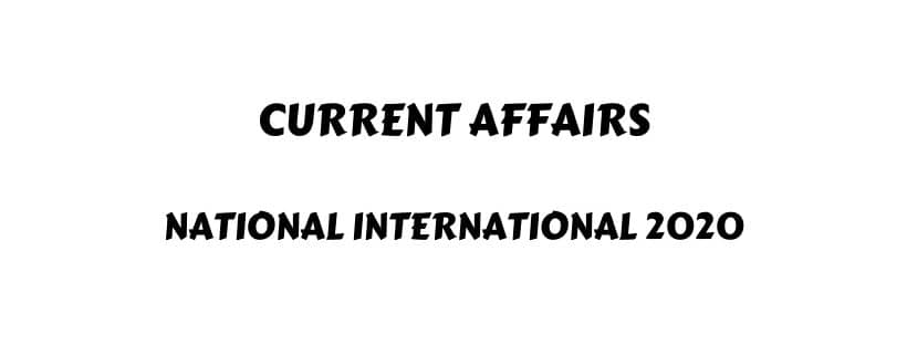 Current affairs for SSC CGL