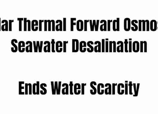 Solar Thermal Forward Osmosis Seawater Desalination System