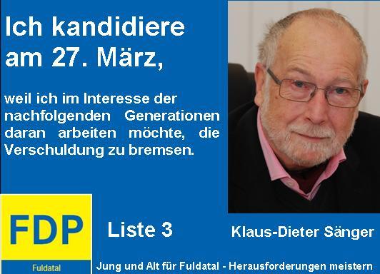 in Anzeigenkampagne der FDP in Fuldatal