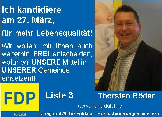 in 2. Anzeigenkampagne der FDP in Fuldatal