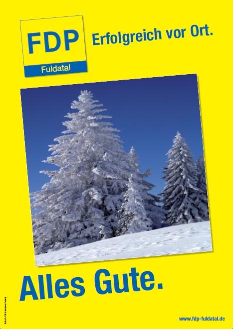in Die FDP in Fuldatal wünscht ihnen ein frohes Fest und alles gute für 2013!