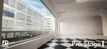 FD Photo Studio Pro Stage I with north facing windows. *Cyclorama is under construction.