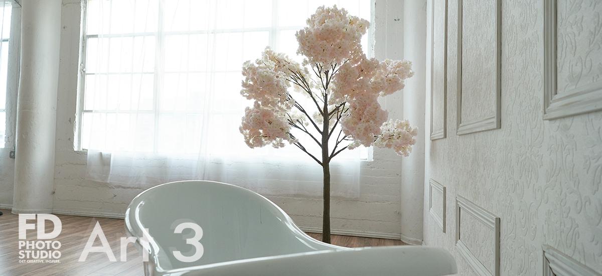 6' tree and a bathtub in Art 3