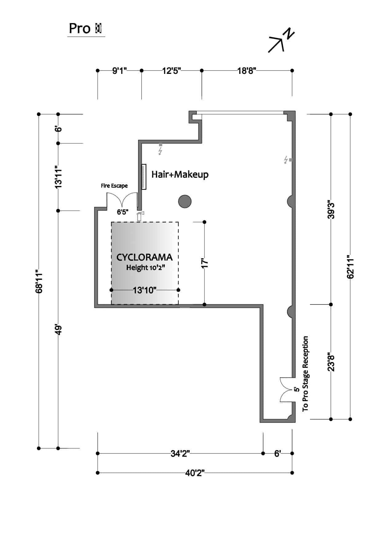 FD Studios - Pro II - floor plan