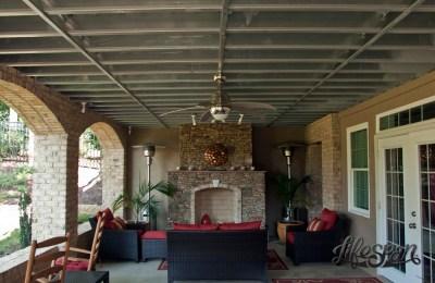 Lifespan Steel Framed Deck - Fireplace