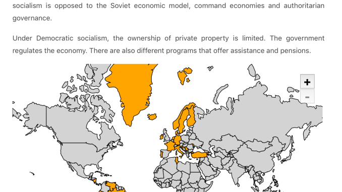 Map of Democratic Countries