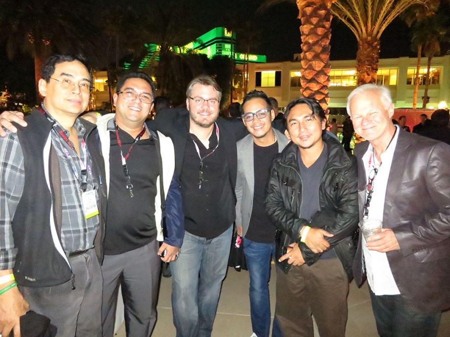 Oli Laperal Jr , Raffy, Vincent Laforet, Sid Maderaso, JA Tadena, Rodney Charters, ASC, CSC at Red Party