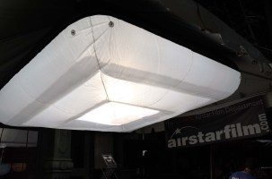 Airstarfilms low profile helium filled light floats comfortably against low ceilings