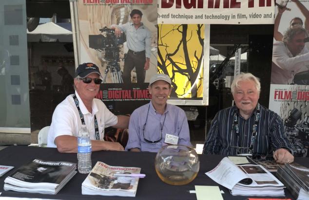 L-R: Juergen Schwinzer (Cooke/ZGC), Jon Fauer, Denny Clairmont (Clairmont Camera)