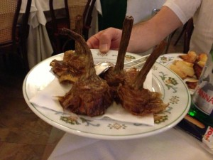 Fried artichokes at Flavia