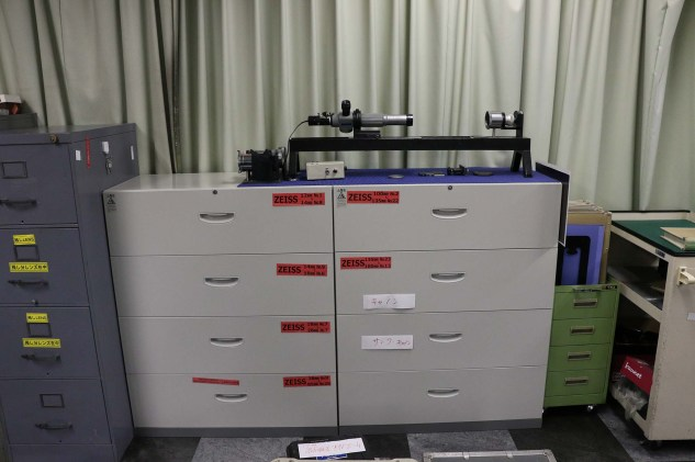 Lens department: organized by type. Large selection of Panavision lenses, because Sanwa is Panavision representative.