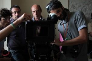 Alessandro Pacifici and Stefano Gradassi, Sales Account at CARTONI and student cinematographers Giuseppe Basile Rodriguez and Andrea J. Di Pasquale (Centro Sperimentale di Cinematografia) during a technical workshop.
