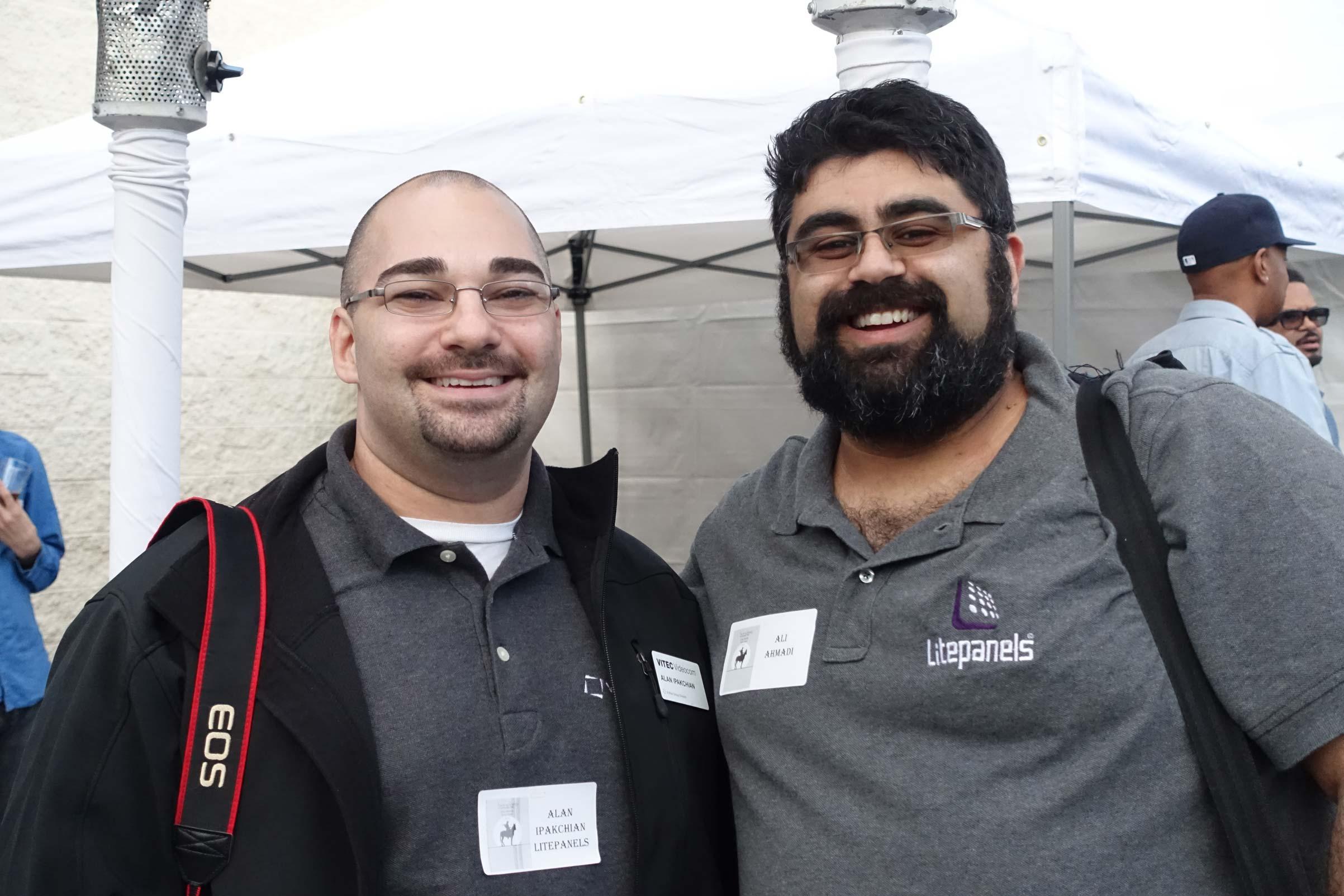 Litepanel's Alan Ipakchian and Ali Ahmadi