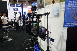 Gimbal on Steadicam at Tiffen booth