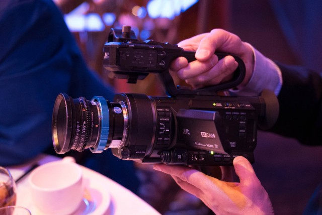JVC 4K Cam at the JVC Luncheon at NAB 2015