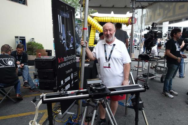 Jeff Lawrence and Motorized Slider from Ronford-Baker