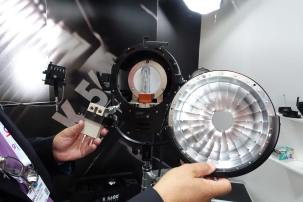K5600's Alpha 800 with interchangeable reflectors and bulb orientation