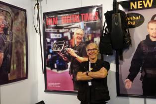 Easyrig's Johan Hellsten with FDTimes poster
