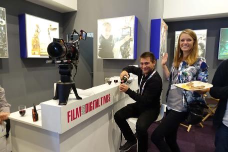 Aaton Digital/Transvideo's Nicolas Simon and Karine Fouquet