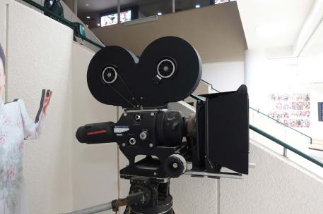 Toei Studios Mitchell camera in museum