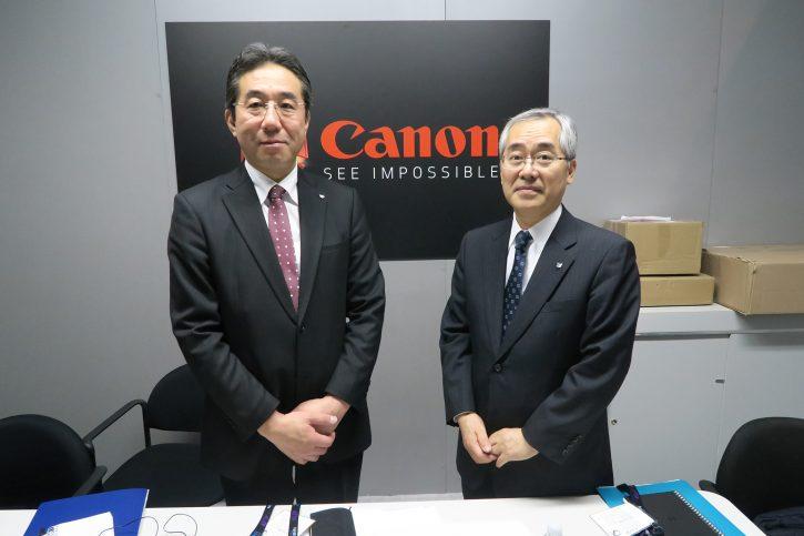 Tetsushi Hibi (left) and Yasunori Imaoka (right) at NAB 2016.