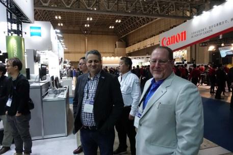 AJA's President Nick Rashby and Dave Sampson, Director of Global Sales
