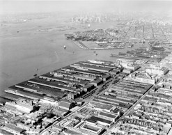 1958 Aerial view of Bush Terminal, Brooklyn, New York, looking north. Photo by Fairchild Aerial Surveys, Inc. and Frederic R. Harris, Inc.