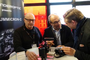 Dante Cecchin, Andreas Kaufmann, Gerhard Baier with Leica SL cage