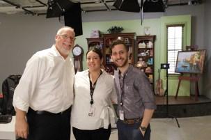 Scott Heath (Rancho PR for Canon), Jesica L Bruzzi (Manager Marketing), Loren Simons (Canon Senior Engineer).