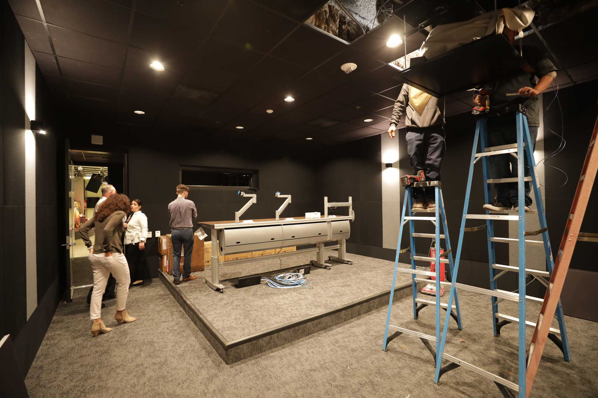 Screening room, under construction