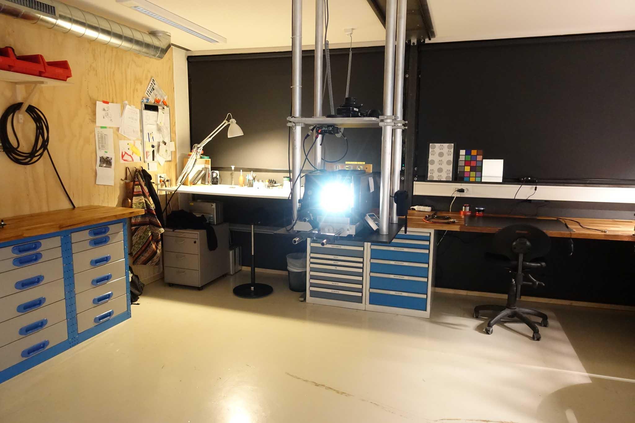 Lens test and repair room
