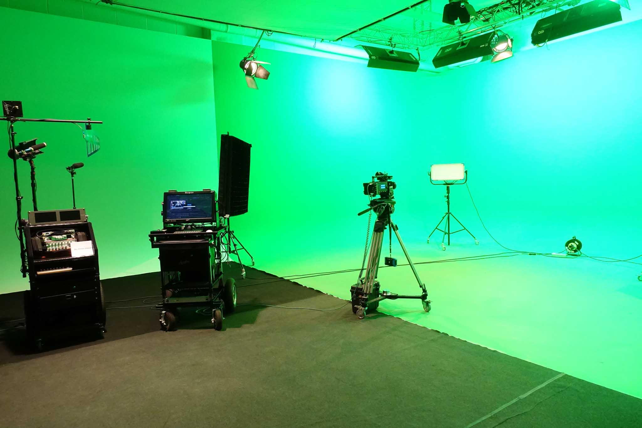 Studio with Green screen