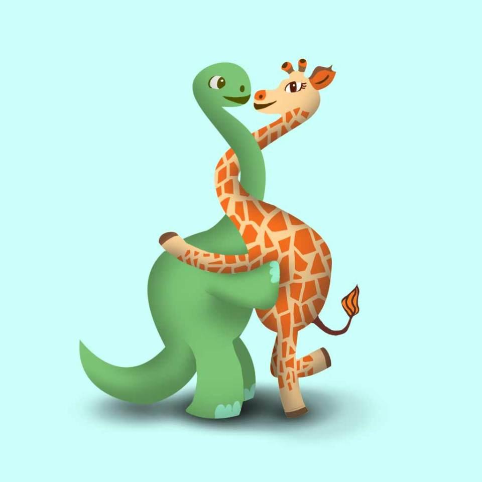 dinoGiraffeLuv