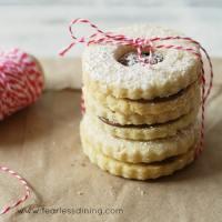 Gluten Free Nutella Linzer Tart Cookies