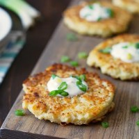 Easy Gluten Free Cauliflower Cheddar Pancakes