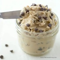 The Easiest Gluten Free Chocolate Chip Cookie Dough Frosting EVER!