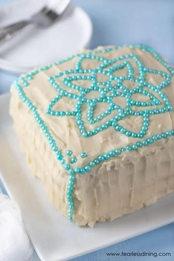 Gluten Free Vanilla Cake With Cream Cheese Frosting Fearless Dining