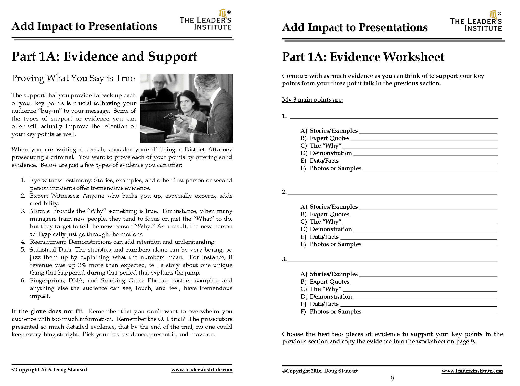 How To Create The Perfect Presentation Handout