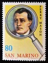 SAN MARINO - CIRCA 1979: A stamp printed in San Marino shows Perry Mason, circa 1979