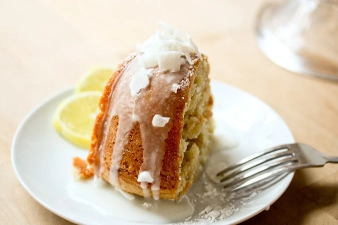 Vegan Meyer Lemon Coconut Bundt Cake