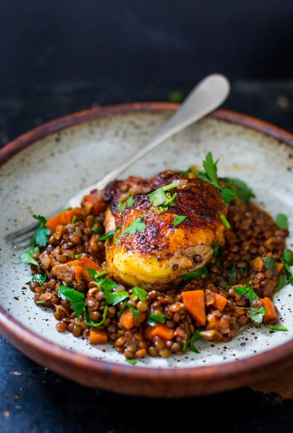 Berebere Chicken and lentils | www.feastingathome.com