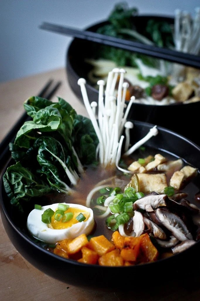 Vegan Ramen with Rich Shiitake Broth