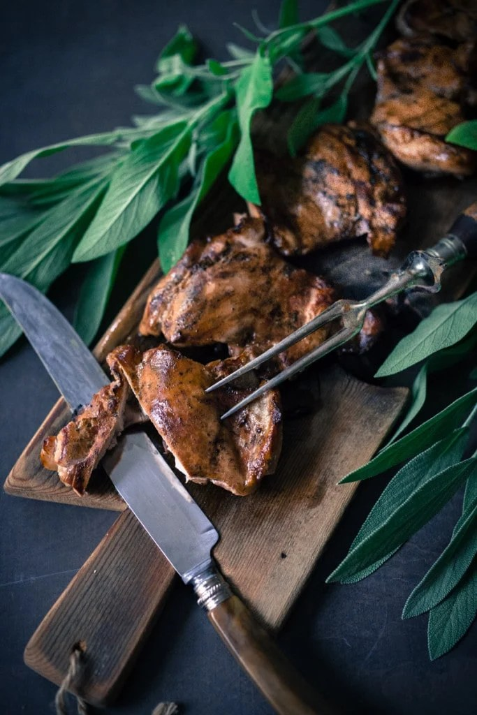 An easy recipe for simple smoked chicken, to use in tacos, enchiladas, lasagna or tossed in pasta. Can be smoked in a wok on the stove! |www.feastingathome.com
