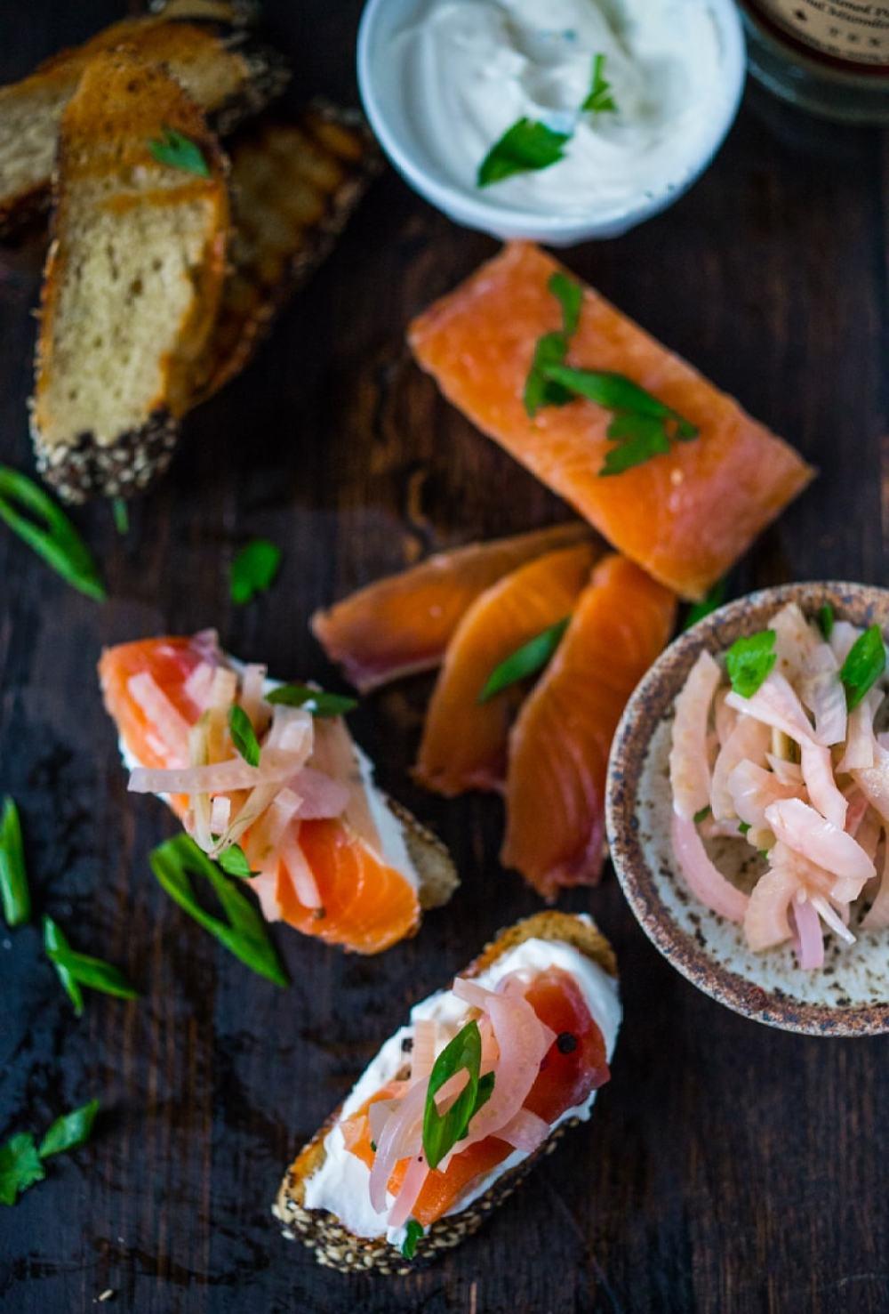 Salt Cured Salmon with Vodka, Juniper, Rosemary & Lemon Zest