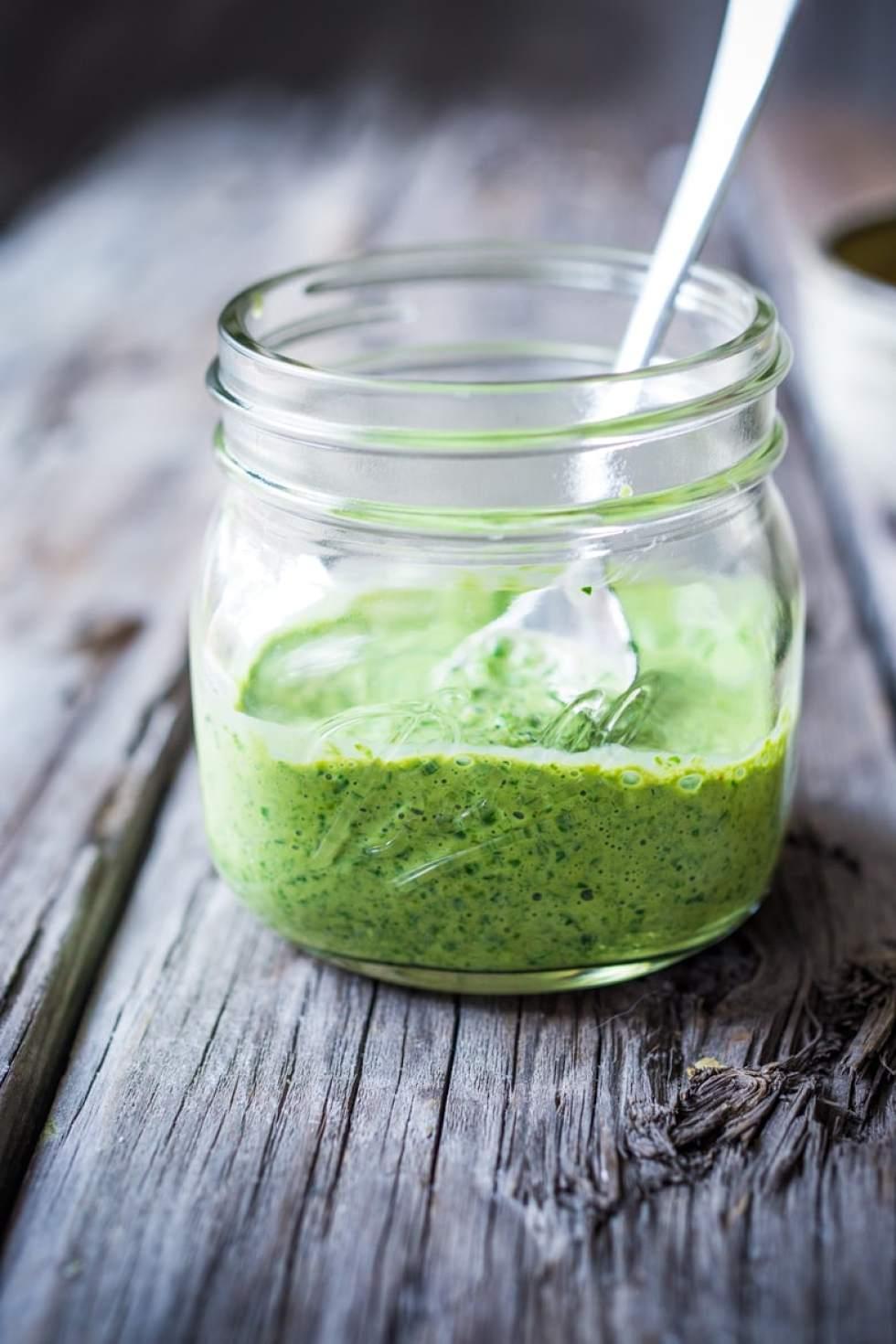 Green harissa yogurt Sauce- a burst of flavor for you buddha bowls!