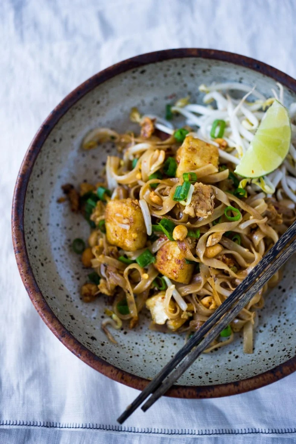 An EASY delicious recipe for 15 MINUTE PAD THAI- simple ingredients with amazing flavor! | www.feastingathome.com